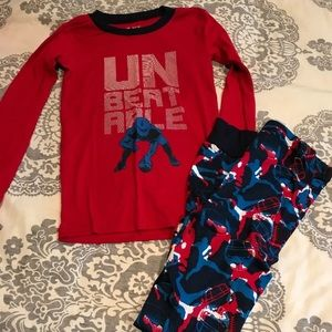 Boys new without tags football pjs size 10 tcp